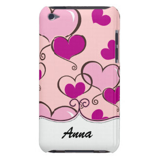 personalized hearts pink trendy iPod touch cases
