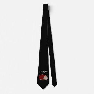 Personalized Hedgehog Black Tie