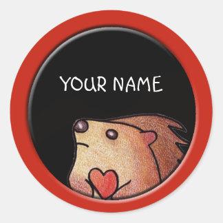 Personalized Hedgehog Sticker