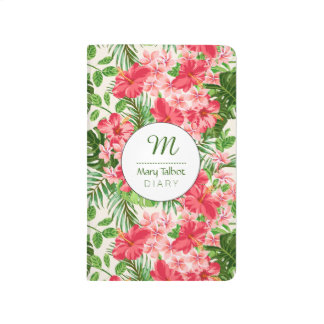 Personalized Hibiscus Flower Monogram Journal