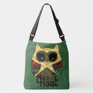 Personalized Hippy Owl Boho Bohemian Bird Custom Crossbody Bag