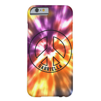 Personalized Hippy Peace Retro Tie Dye Boho Barely There iPhone 6 Case