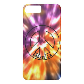 Personalized Hippy Peace Retro Tie Dye Boho iPhone 8 Plus/7 Plus Case