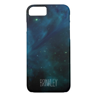 Personalized Hipster Blue Galaxy Cosmos iPhone 7 Case