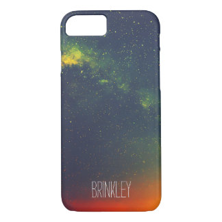 Personalized Hipster Colorful Galaxy Cosmos iPhone 7 Case