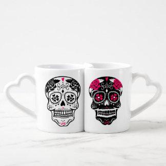 Personalized Hipster Sugar Skull Lovers Mug