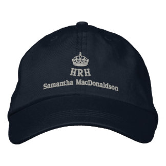 Personalized His Royal Highness Embroidered Cap