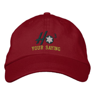 Personalized Ho Ho Ho Snowflake Embroidered Embroidered Hat