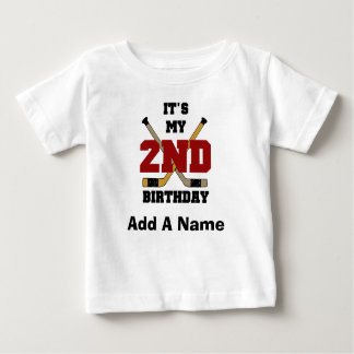 Personalized Hockey 2nd Birthday Tshirt