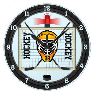 Personalized Hockey Large Clock