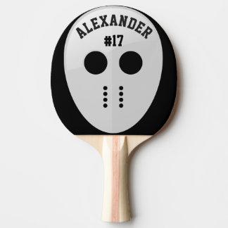 Personalized Hockey Mask Ping Pong Paddle