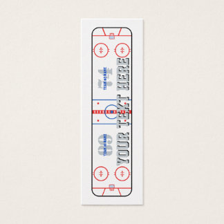 Personalized Hockey Rink Diagram Design on a Mini Business Card