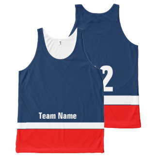 Personalized Hockey Team Colors Tank Top