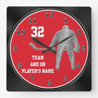 Personalized Hockey Team Gifts YOUR TEXT, COLORS Clock