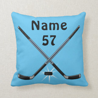 Personalized Hockey Throw Pillow in Any COLORS