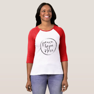 Personalized • Holiday • PEACE HOPE LOVE T-Shirt