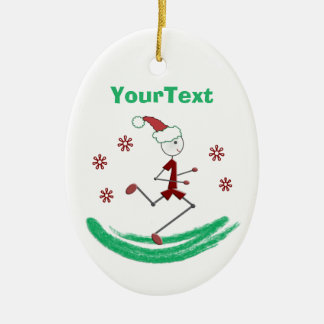 PERSONALIZED Holiday Stick Runner Guy Christmas Ornament