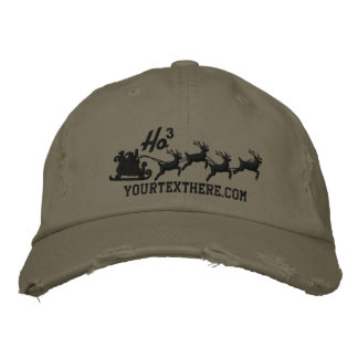 Personalized Holidays Santa Sleigh Ride Scene Embroidered Cap