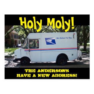 Personalized Holy Moly Change of Address Postcard