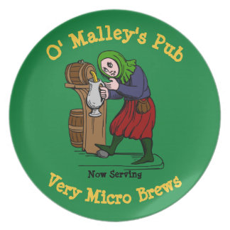 Personalized Home Brewer Pub Logo Party Plate