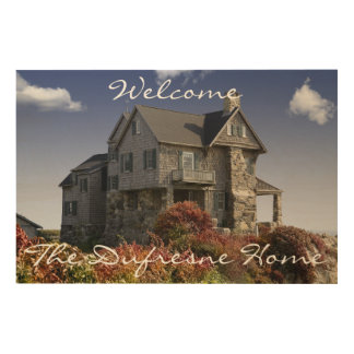 Personalized Home & Family Name Welcome Sign