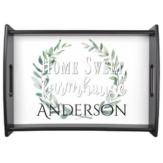 Personalized Home Sweet Farmhouse Tray