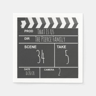 Personalized Home Theater Custom Movie Clapboard Paper Serviettes