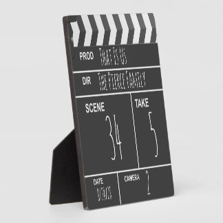 Personalized Home Theater Custom Movie Clapboard Plaque