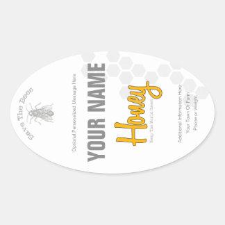 Personalized Honey Bottle Custom Label