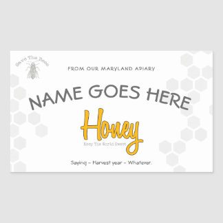 Personalized Honey Jar Custom Label
