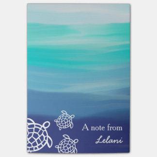 Personalized Honu Sea Turtles Ocean Beach Post-it Notes