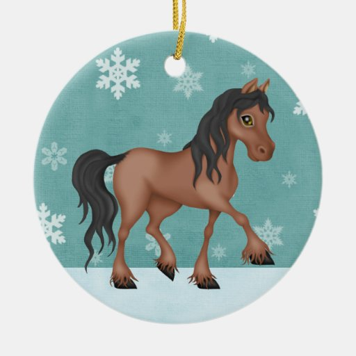 Personalized Horse Christmas Ornament