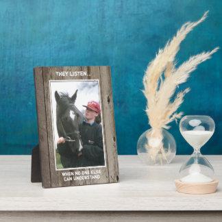 Personalized Horse quote Photo Plaque