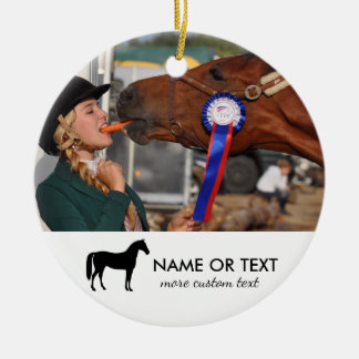 Personalized Horse Riding Photo Equestrian Christmas Ornament