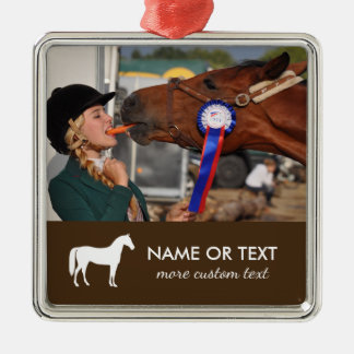 Personalized Horseback Riding Photo Equestrian Christmas Ornament