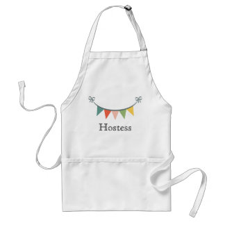 Personalized Hostess Bunting Banner Apron