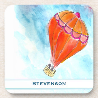 Personalized Hot Air Balloon Drink Coasters