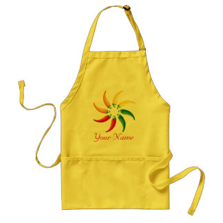 Personalized Hot Peppers Chef Kitchen Apron