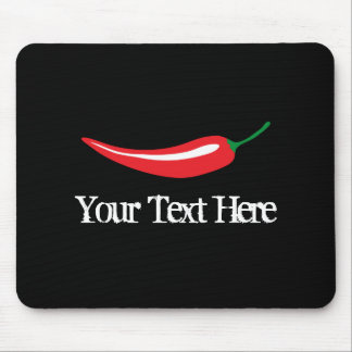 Personalized hot red chili pepper mouse pad