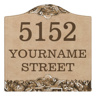 Personalized House Address Sign
