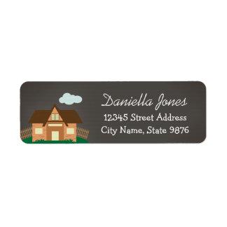 Personalized House Return Address Label