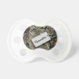Personalized Hunter Military Camo Pacifier