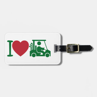 Personalized I Heart Golfing Golf Bag Tag