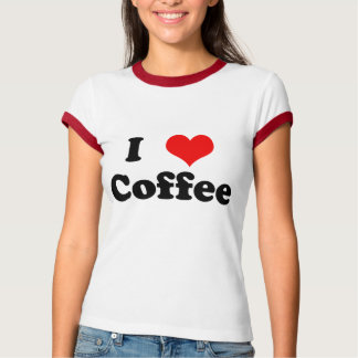 Personalized I Heart Ladies Ringer T-Shirt