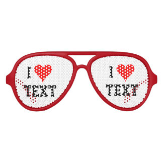 Personalized i heart party shades i love glasses