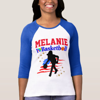 PERSONALIZED I LOVE BASKETBALL PERSONALIZED DESIGN T-Shirt