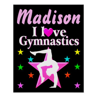 PERSONALIZED I LOVE GYMNASTICS POSTER