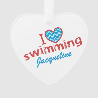 Personalized I love (heart) Swimming