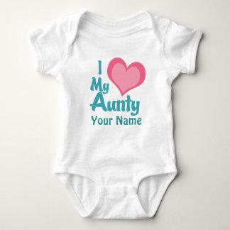 Personalized I Love My Aunty Baby Bodysuit
