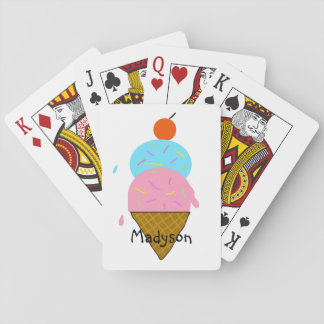 Personalized Ice Cream Children's Playing Cards